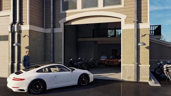 Luxury Car parking in Automotive Storage Unit at Crossroads Motor Condos