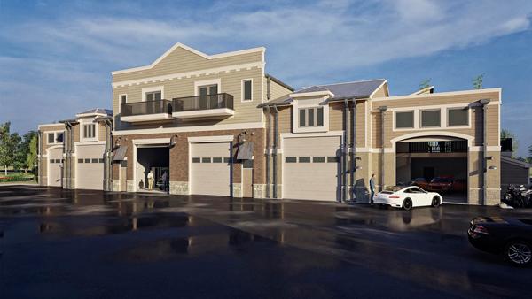 Crossroads Motor Condos Luxury Car Parking in Automotive Storage Unit